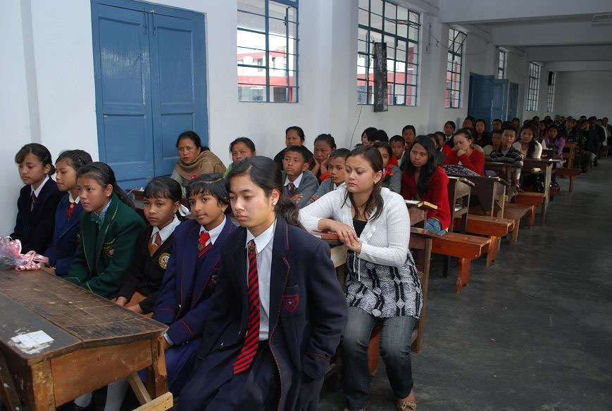 Students at Speech on Essay Writing competition-2009