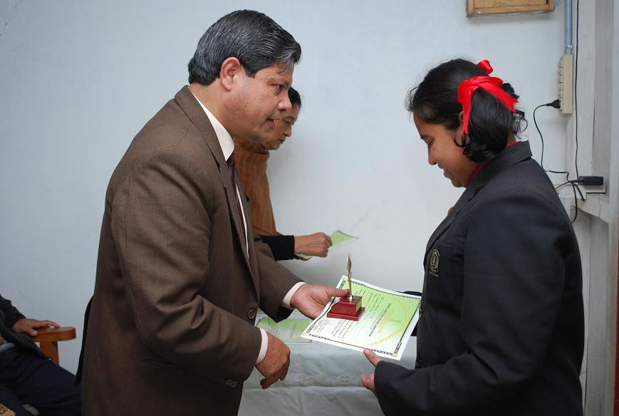 Felicitating Students Essay Writing competition-2009
