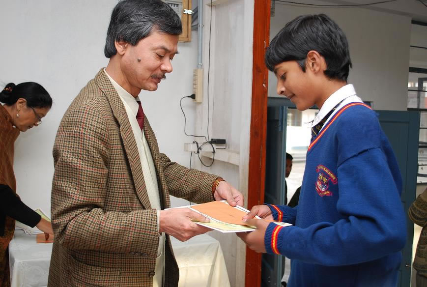Felicitating Students Essay Writing competition-1-2009