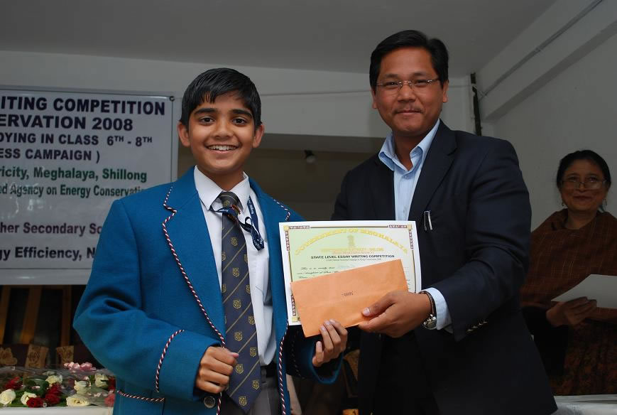 Felicitating Students Essay Writing competition-4-2009
