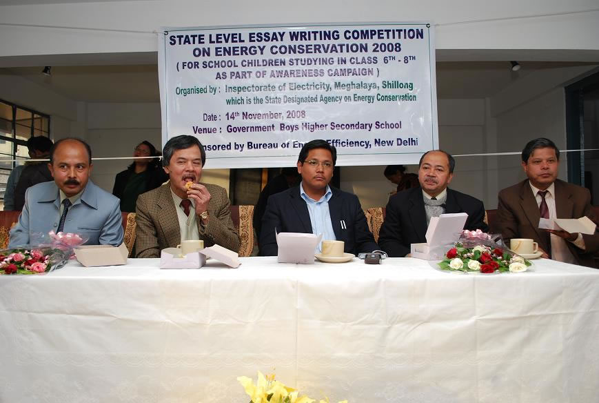 state level Essay Writing competition on energy conservation-2009