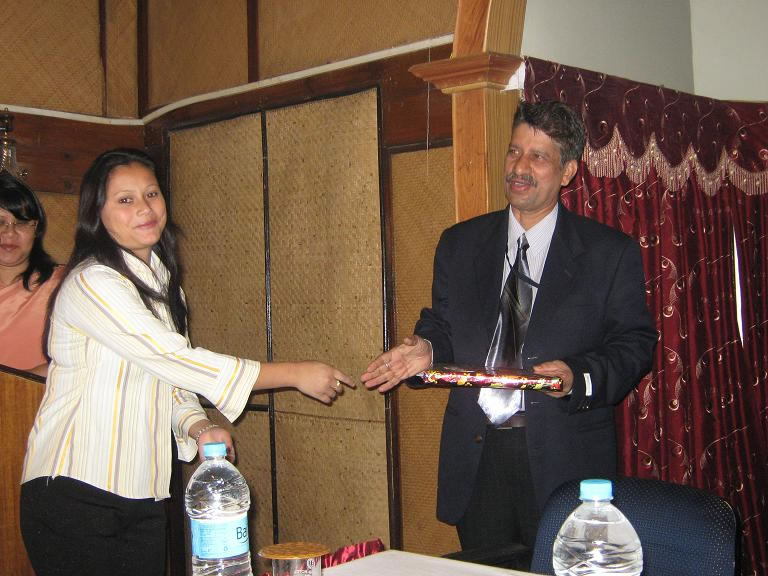 Felicitating on One day seminar energy conservation-2009