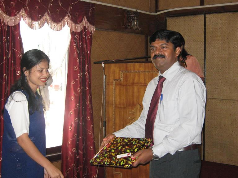 Felicitating on One day seminar ec-1