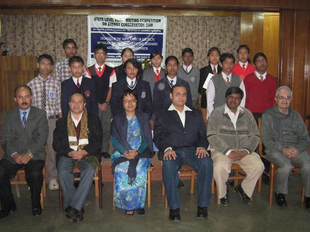 Winners photo with teachers at essay competition