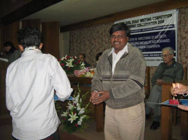 certificate distribution  at essay competition